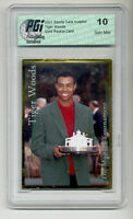 2001 SCI Tiger Woods PGI 10 Gold rookie card MASTERS!!!