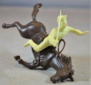 Marx Civil War Falling Horse Rider Cream Cavalry Union Confederate Toy Soldiers