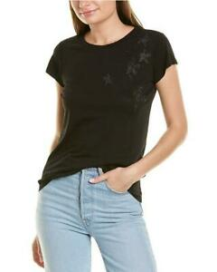 Zadig & Voltaire Women's Skinny Stars Strass T-shirt Blouse- Black (S,M/BNWD)
