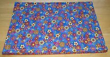 Bright and Fun Floral Placemats Set of 4 Orange Backing