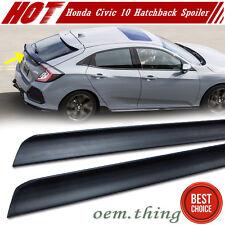 Unpainted Honda Civic 10th 5D Hatchback Rear Trunk Lip Spoiler Wing 2017