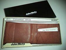 John Weitz Genuine Leather Convertible  Billfold Wallet,Brown