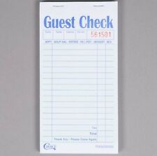 Restaurant Guest Checks 2500 Tickets 50 Books 2 Part Green White Carbon