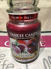 Yankee Candle Luscious Plum Large JarDeerfield USa 2014 Free Uk P&p