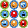 144 Monster Smiles Personalised 30 mm Reward Stickers  School Teachers, Nursery