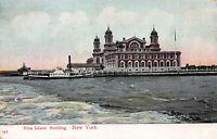 Ellis Island Building, New York City, Early Postcard, Unused