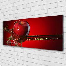 Wandbilder Glasbilder Druck Auf Glas 125x50 Apfel Wasser Küche