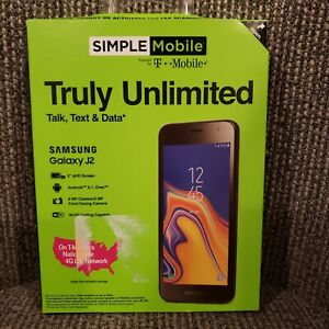 SIMPLE MOBILE SAMSUNG GALAXY J2 PREPAID SMARTPHONE - NEW