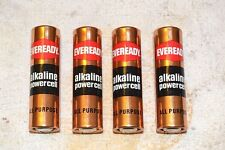 Eveready E91 Alkaline Powercell Aa Cell Battery Dead 4 Pieces Dead For Display