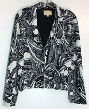 ALBERTO MAKALI Jumbo Print Lined Jacket Size S Black White Gray
