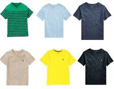 Ralph Lauren Polo Boys Black Grey V Neck Short Sleeve T shirt Top 4 6 8 10 12 14