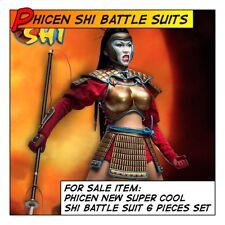 PHICEN/TBLeague Shi Samurai Hot Battle Armor Set for 1/6 12 in scale Female Toys