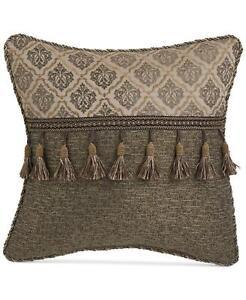 "Croscill Nerissa 16"" x 16"" Fashion Decorative Pillow Netural Ground"