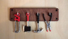 Miniature hand made Tools Set on Wood Tool Shelf Steam Engine model Display LGW