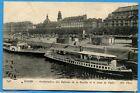 CPA: ROUEN - Embarcadère des Bateaux de la Bouille et le Quai de Paris