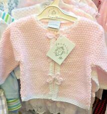 SALE Pretty Dandelion Baby Pink/White Flower Cardigan  Size 6-12 months