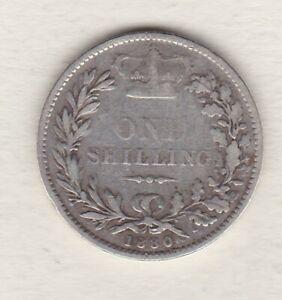 1880 VICTORIA YOUNG HEAD SILVER SHILLING IN FINE CONDITION