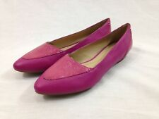 a0ea58c528bfa NEW Geox Respira Shoes Womens 6 Pink Pointed Toe Slip On Flats Shimmer  Leather