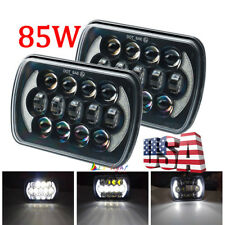 "2pcs 5x7"" 7x6"" Total 170W Led Headlights For Ford GMC Chevrolet Jeep Cherokee XJ"