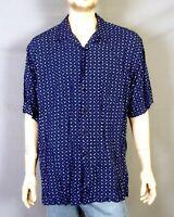 vtg 90s euc Polo Ralph Lauren Clayton 100% Rayon Camp Shirt Atomic Print loop XL
