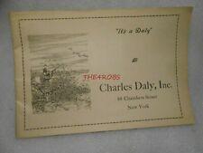 Nice Vintage 1930s Charles Daly Inc. Gun Rifle Catalog