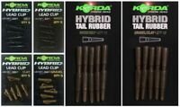 NEW Korda Hybrid Lead Clip & Hybrid Tail Rubber All Colours  - Carp Fishing