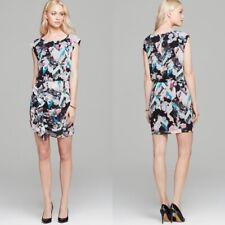 Rebecca Minkoff Women Minetta Dress Turquoise Grosgrain Accent Zipper Fitted NEW