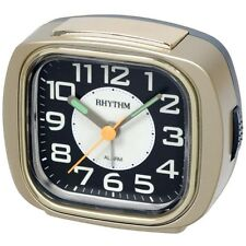 Rhythm Cre847wr18 Wecker Kunststoff analog Alarm schwarz