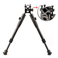 "Adjustable 8""-10"" Spring Return Foldable Hunting Rifle Bipod w Barrel Mounts"
