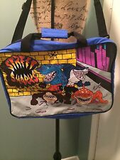 Street Sharks Duffle Bag; 90s Vintage/Rare OG Streetwear Nickeloden Cartoon