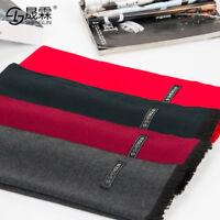 Mens Cashmere Silk Scarf Winter Warm Scarves Shawl Scarf Head Neck Wrap 180*30cm