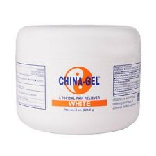 China Gel WHITE 8 oz Jar Topical Pain Reliever for Aches Pains & Arthritis!