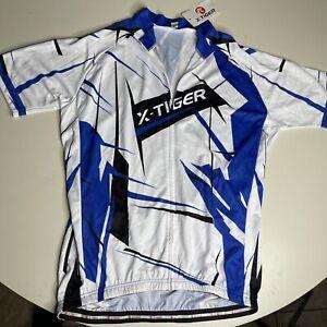 NEW X-TIGER Men's Cycling Jersey size 3XL XXXLBlue White Biking C1