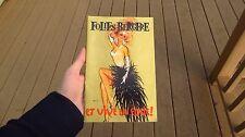 Folies Bergere Souvenir Program Folie Et Vive La Folie Tropicana Las Vegas