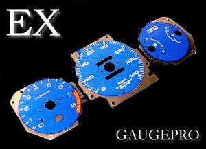 96-00 HONDA CIVIC EX BLUE CARBON FIBER GLOW GAUGES in MPH 97 98 99 USA