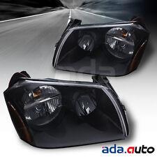 2005-2007 Dodge Magnum Base/RT/SXT Black Headlights Replacement Lamps Pair