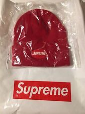 Supreme Rubber Patch Beanie Red Hat Beanie S/S18 Spring Summer 2018
