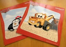 New listing Disney Pixar Cars Appliques-Mater & The Sheriff-3 Ways To Attach-New