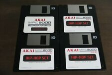 Akai MPC2000 OS 1.72 & Sound Library 3 Disk Drum Kit Sample Pack Floppy Library