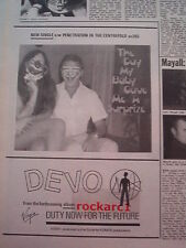 DEVO Duty Now for The Future (surprize)#2 1979 UK Press ADVERT 10x8 inches