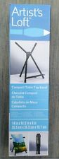 Artist's Loft Compact Table Top Lightweight Aluminum Easel w/ Carrying Bag Nib