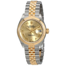 Rolex Lady Datejust 28 Champagne Dial Automatic Two Tone Jubilee Watch 279163CRJ
