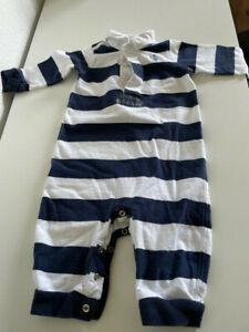 Ralph Lauren Strampler Baby * blau/weiss gestreift * Grösse 6 M