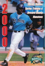 2000 Florida Marlins Spring Training & Brevard County Manatees Pocket Schedule