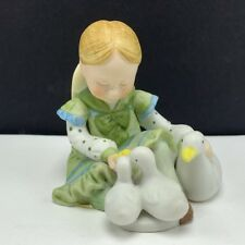 Holly Hobbie porcelain figurine vintage miniature doll enesco ducks goose geese