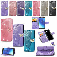 Butterfly Bling Cards Slots Flip Leather Wallet Case Cover For LG Stylo 5 4 K40