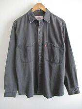 EUC Vintage Levi's Red Tab Mens Button Front Stone Wash Black Denim Work Shirt M
