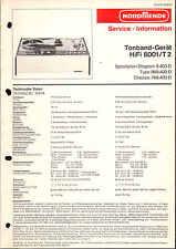 Nordmende Service Manual für Tonband HiFi 8001/T2