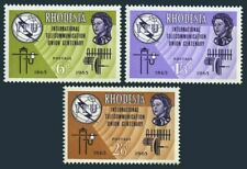Rhodesia 200-202, MNH. ITU-100,1965. Communication equipment. x33108