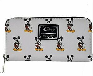 Loungefly Disney Retro Grey Classic Mickey Mouse AOP Faux Leather Wallet
